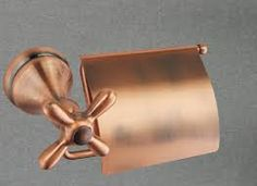 copper toilet paper holder - Google Search