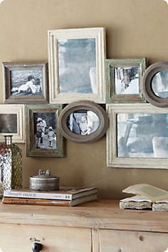 collage frames distressed wood - Google Search