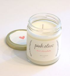 hot chocolate soy candle from Pink Olive - $24.00