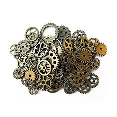 Crafts Collage Supplies Pendant Charms For Jewelry Making Antique Steampunk Wheel Gear Aoyoho 100 Gram By Scientific Process