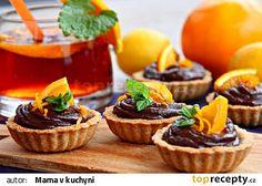 Tartaletky s čokoládovým orange curd krémem recept - TopRecepty. Czech Recipes, Lemon Curd, 20 Min, Mini Cupcakes, Nutella, Ale, Cheesecake, Food And Drink, Sweets