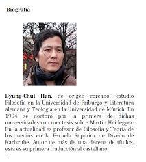 Resultado de imagen para Byung-Chul Han