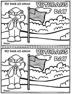 Veterans Day Mini Book for Early Readers Veterans Day Songs, Veterans Day Activities, Autumn Activities, Teaching Resources, Teaching Ideas, 1st Grade Crafts, November Thanksgiving, Community Workers, 1st Grade Science