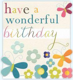 Birthday card - 'Wonderful Birthday'