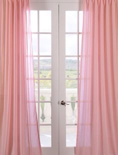 Pink Curtains For Y S Sheer Curtain Panels Balcony Rose