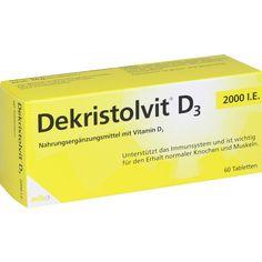 DEKRISTOLVIT D3 2.000 I.E. Tabletten:   Packungsinhalt: 60 St Tabletten PZN: 10818523 Hersteller: MIBE GmbH Arzneimittel Preis: 5,05 EUR…