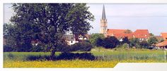 """Brühl / germany : the Rhine lowlands lie just outside the town and offer just as the idyllic nature reserve located on the isle """"Kollerinsel"""" numerous trips in a rich flora and fauna."""