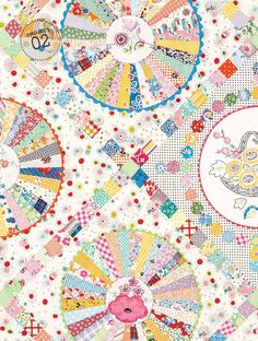 30s Wheel - Dresden plate quilt pattern with rick rack edges at Homespun Magazine issue 16.1.  Design by Chris Jurd.  See http://chrisquilts.blogspot.com/2015/01/what-issue.html