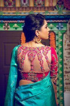 Blouse Back Neck Designs, Neckline Designs, Fancy Blouse Designs, Bridal Blouse Designs, Saree Jacket Designs, Silk Saree Blouse Designs, Choli Designs, Cut Work Blouse, Stylish Blouse Design