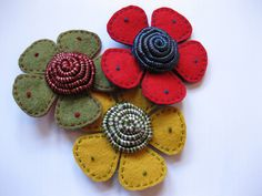 Kaylacoo Flower Brooches by kayla coo, via Flickr