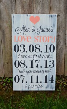 Personalized Wedding SignGiftCustomized by KnottyPineLLC on Etsy, $39.99