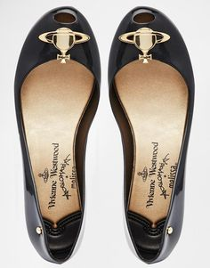 188eaf61a Image 3 of Vivienne Westwood For Melissa Ultragirl 14 Black Orb Flat Shoes  Vivienne Westwood