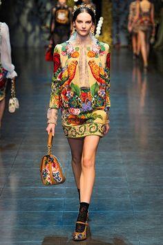 Dolce Gabbana Fall 2012 Needlepoint Suit