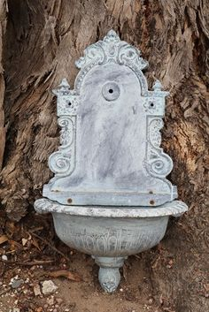 Cast Iron Wall x wide x aprox. Water Wall Fountain, Fountain Ideas, French Walls, Water Walls, Garden Fountains, Garden Features, Iron Wall, Antique Items, Conservatory