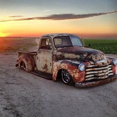 Would you take this rusty rod slammed chevy truck