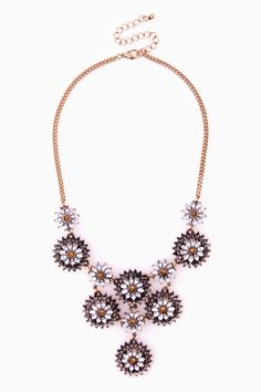 Blooming statement necklace