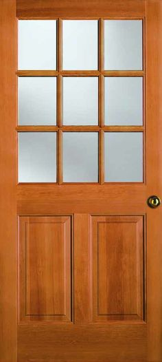 Front door craftsman 2 panel 1 lite simpson door for Door 00 seatac