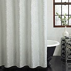 Image Of Excell Palmetto Fabric Shower Curtain