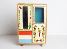 Vintage 60s MOD Japanese Doll Armoire / By Twinheartsvintage