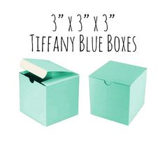 50 Pack of 3 x 3 x 3 Square Tiffany Blue Boxes by AnnaSeeSupplies