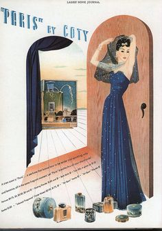 Ad for Paris perfume by Coty, 1941