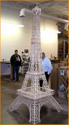 5,000 Popsicle Stick Eiffel Tower by bewhyareohin, via Flickr