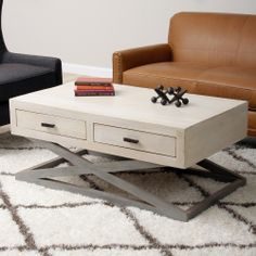 Centre 2-drawer Coffee Table (India) | Overstock.com Shopping - The Best Deals on Coffee, Sofa & End Tables