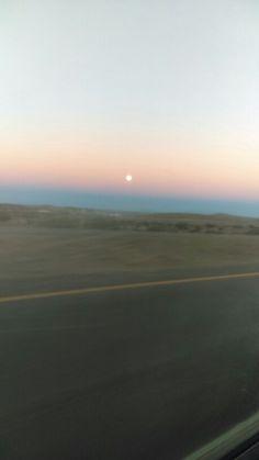 Atardecer con Luna Llena en Zacatecas, Mexico