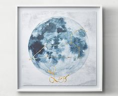 Zodiac Constellation Art with Gold Foil Accent from RH Teen