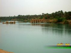 The ancient Heet town which is overlook Euphrates river, Anbar province- Iraq.