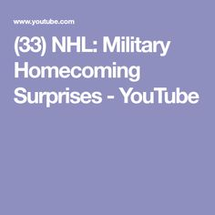 (33) NHL: Military Homecoming Surprises - YouTube