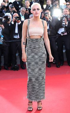 The actress shows off an edgy look at Cannes Film Festival for her movie 120 Beats Per Minute.
