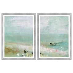 Check out this item at One Kings Lane! Morning Mist By the Ocean Diptych