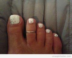 Decoración de uñas de los pies, pedicuras para verano 3