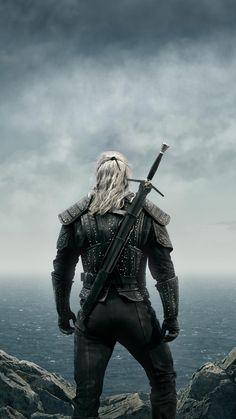 The Witcher, warrior, Netflix TV show, poster wallpaper - TV shows wallpapers The Witcher Geralt, Witcher Art, Into The Badlands, The Witcher Wallpapers, Series Movies, Tv Series, The Witcher Series, The Witcher Game, The Witchers