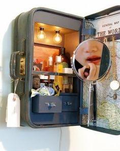 Suitcase cabinet