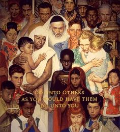 Norman Rockwell. The Golden Rule.