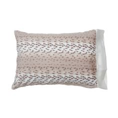 Luxe Snow Leopard Standard Pillow Case with Ivory or Pink or Blue Satin Band…sooo soft..