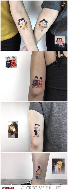 Cute Tatoos Are Trendy And Alican Gorgu Just Making His Mark #tatoo #tatooing #design #creativity #design #art #fashion #love #cuteness #cutenessoverload #alicanGorgu