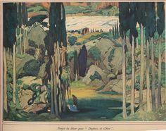 Daphnis et Chloé - 1912 - décor Daphnis et Chloé, de Michel Fokine, musique de Maurice Ravel, décors et costumes de Léon Bakst