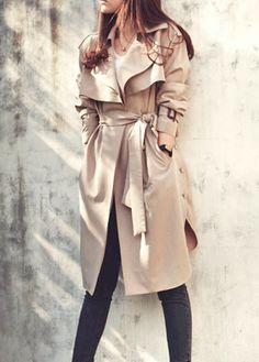 Fashion Lapel Trench Coat|Disheefashion