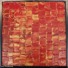 You are looking at one of a kind, original, acrylic, abstract painting. This one was painted in red and gold, with a spatula tool to create texture. The edges of this painting have been painted black Paintings, Painting Art, Red Gold, I Shop, Fine Art, Room Art, Texture, Abstract, Amp