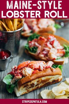 Classic Maine Lobster Rolls Bring a taste of coastal New England to your table with these Maine Lobster Rolls! See how fresh, simple ingredients make these lobster salad sandwiches a crave-worthy summertime classic. Lobster Roll Recipes, Best Lobster Roll, Fish Recipes, Seafood Recipes, Cooking Recipes, Lobster Rolls, Healthy Recipes, Lobster Dishes, Seafood Dishes