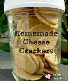 Learn how to make homemade cheese crackers.  They taste just like storebought goldfish crackers -without all the additives!
