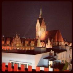 Abendstimmung im 360° Schöne Aussichten Beachclub Hannover