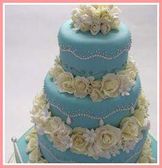 Tiffany & Co. Themed Wedding Cake