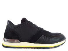 Sneakers Tod's - Todrun Access en cuir, cuir imprimé, nubuck et toile noir