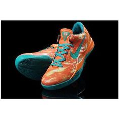 www.asneakers4u.com Nike Zoom Kobe VIII Women Shoes Orange/Green