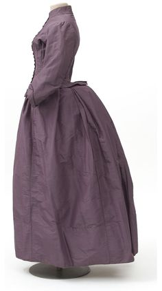 Robe en deux parties, Maison Liseray, Paris, 1880-1885    Taffetas  Don Anne Sauvy, 2008  Inv. 2008.139.1.1-