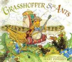 JJ CLASSICS PIN. In this retelling of the classic Aesop fable, hardworking ants stock up for the winter while a fun-loving grasshopper plays all year long, until the cold weather arrives and he realizes his mistake in not planning ahead.